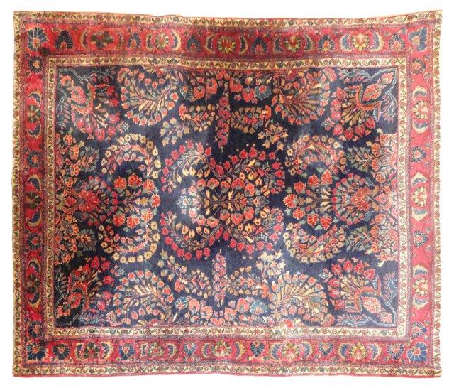 """Antique Persian Sarouk, 5'7"""" x 4'2"""""""