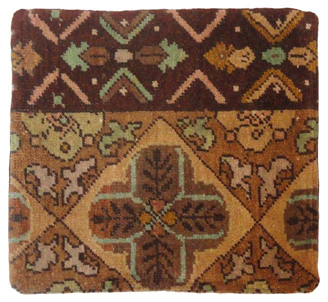 Brown Floral Pillow Sham