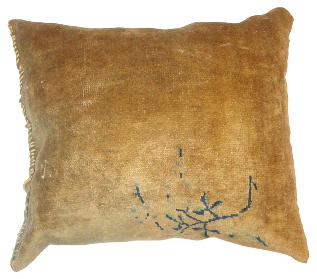 Pillow w/ Antique Chinese Rug