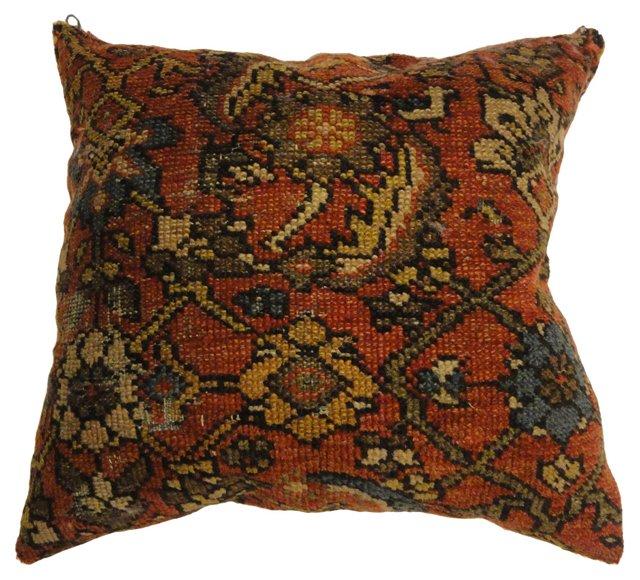 Pillow w/ Antique  Persian Rug