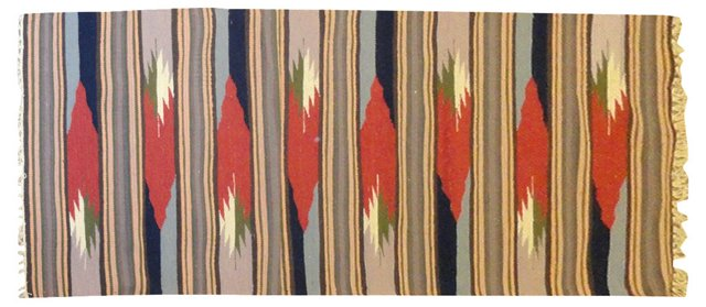 "Striped Navajo-Style Rug, 8'3"" x 2'7"""