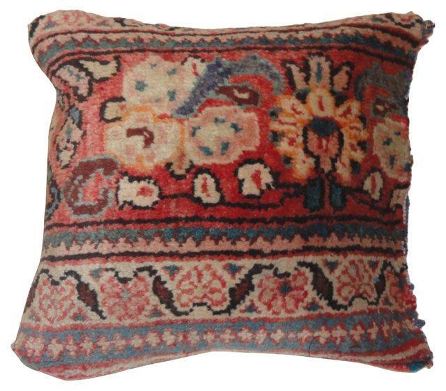 Pillow w/ Persian  Sarouk Rug