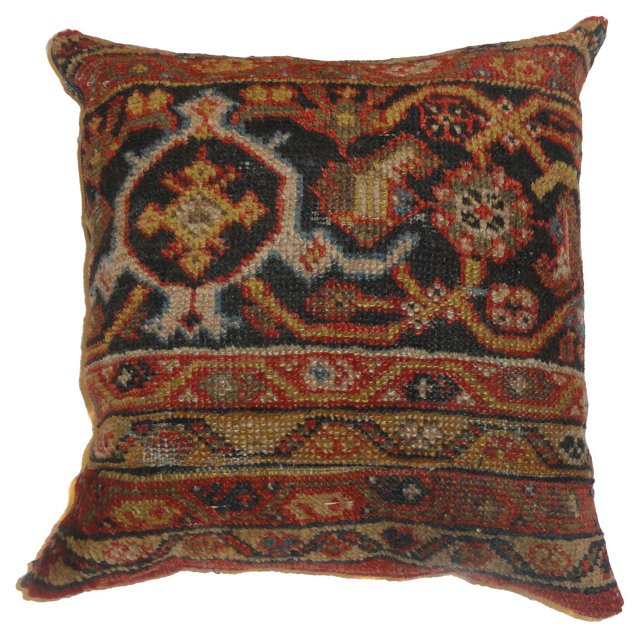 Pillow w/ Antique Mahal Rug