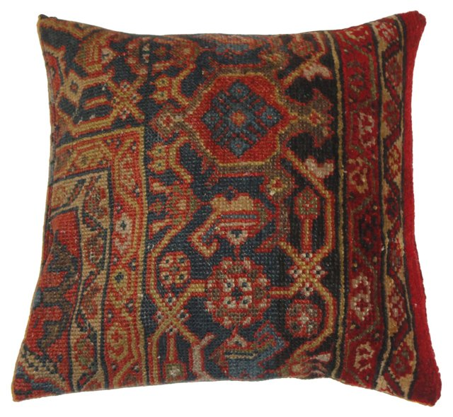 Pillow w/ Sultanabad Rug