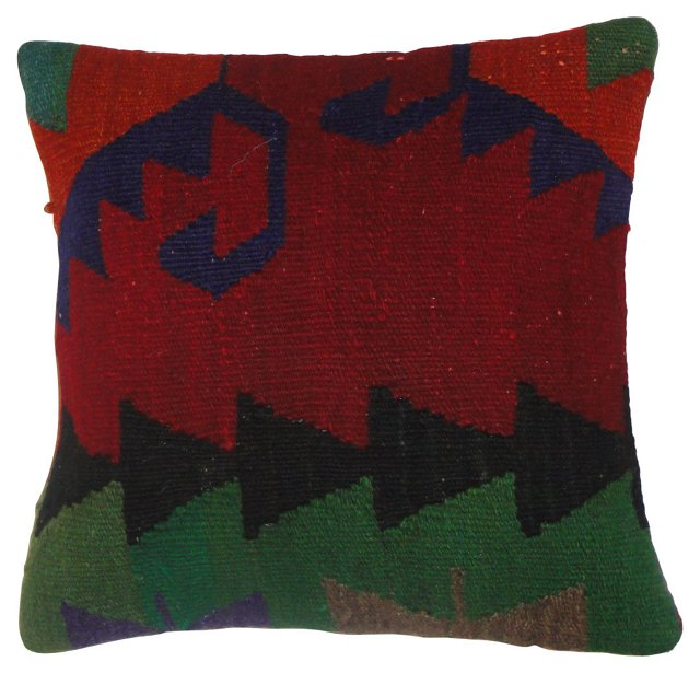 Red & Green Kilim Pillow