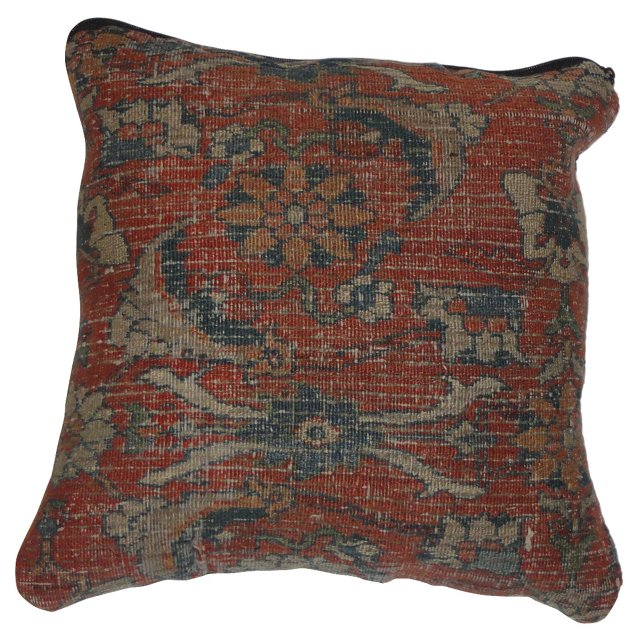 Pillow w/ Antique  Rust   Rug
