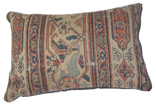 Pillow w/ Antique Persian  Doroksh