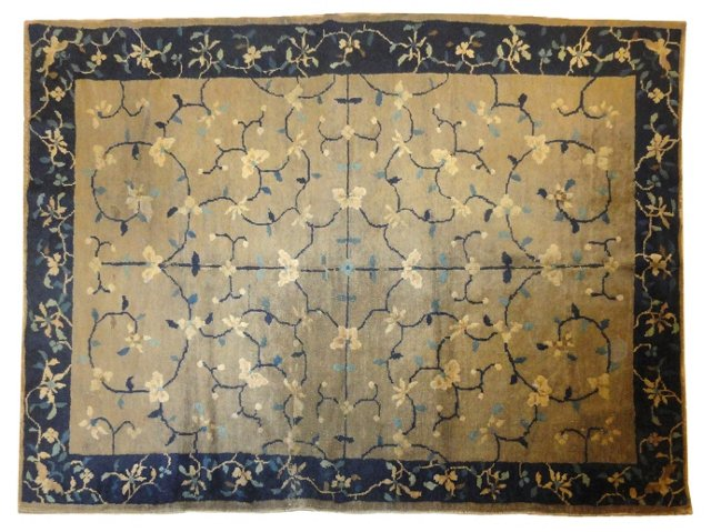 """Antique Chinese Rug, 6'6"""" x 4'1"""""""
