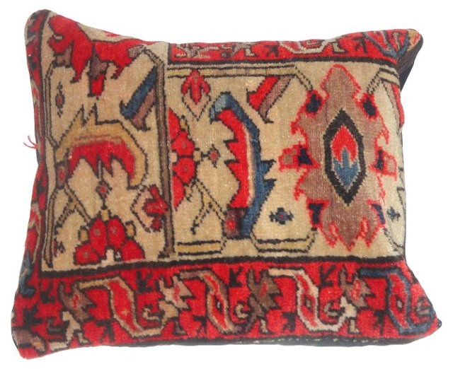 Pillow w/ Persian Rug Fragment