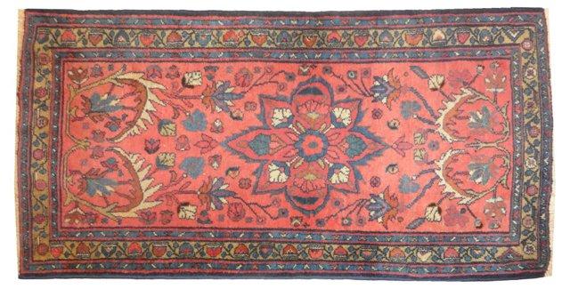 "Antique Lillihan Rug, 5' x 2'9"""