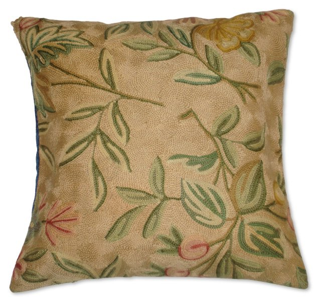 Pillow w/ Floral    Needlepoint