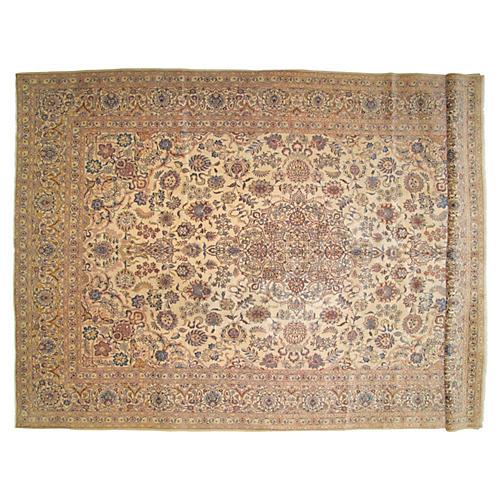 "Persian Kashan Carpet, 9' x 13'8"""
