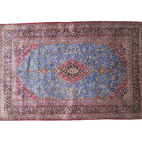 "Persian Silk Kashan Rug, 5' x 7'7"""