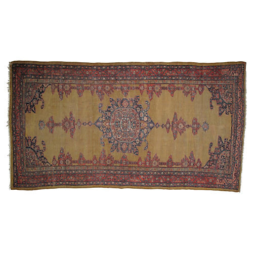 "Antique Sultanabad Rug, 12'4"" x 6'6"""