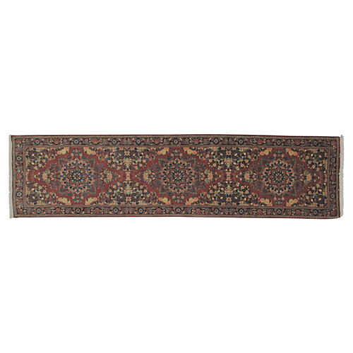 "Persian Sarouk Runner, 9'1"" x 2'3"""