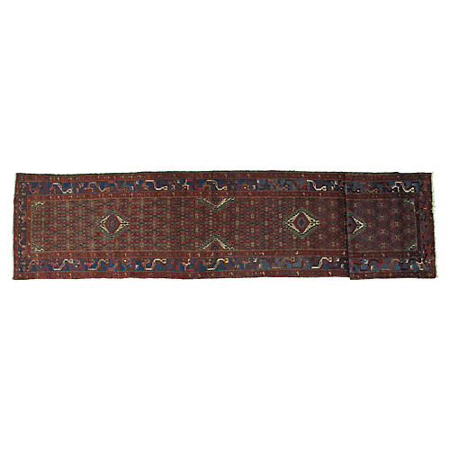 "Antique Malayer Runner, 3'3"" x 16'10"""