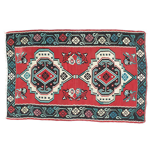"Antique Karabagh Kilim, 6'4"" x 10'"