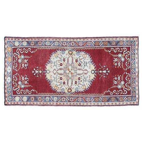 """1970s Anatolian Oushak Rug, 3' x 5'10"""""""