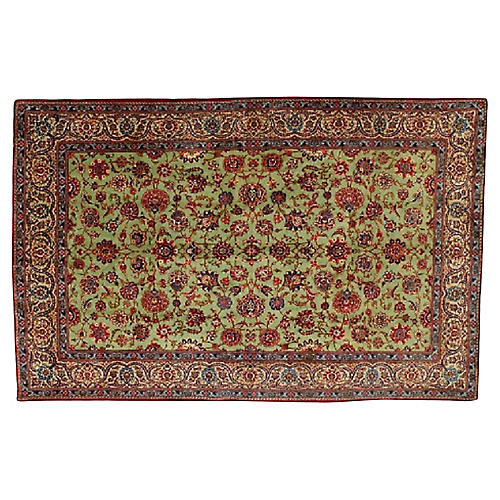 """Persian Kashan Rug, 7' x 10'10"""""""