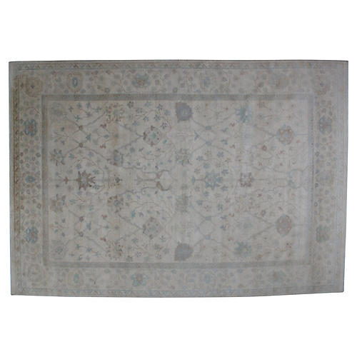 "Oushak-Style Carpet, 8'10"" x 12'9"""