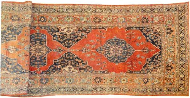 "Antique Sultanabad, 14'10"" x 6'1"""