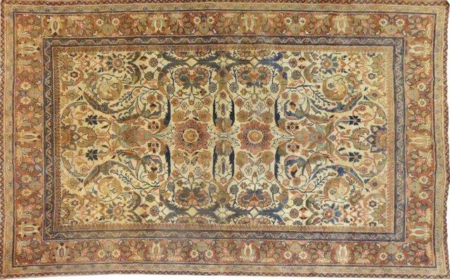 """Antique Sultanabad Carpet, 10'8"""" x 7'3"""""""