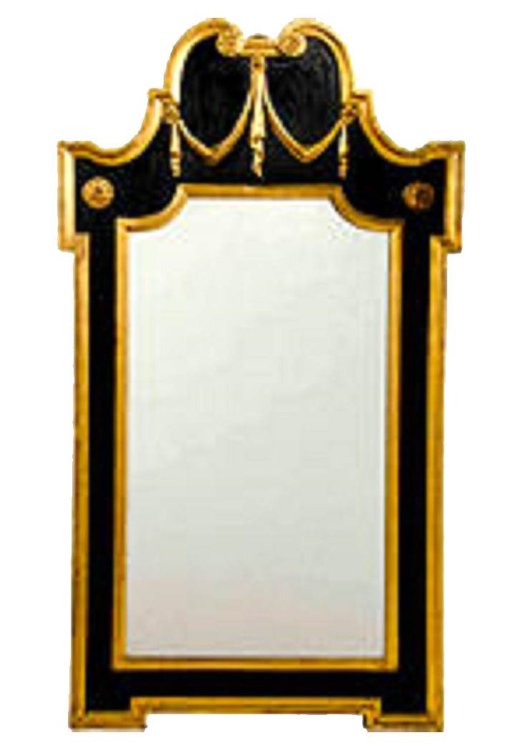 Black & Gold Italian Mirror