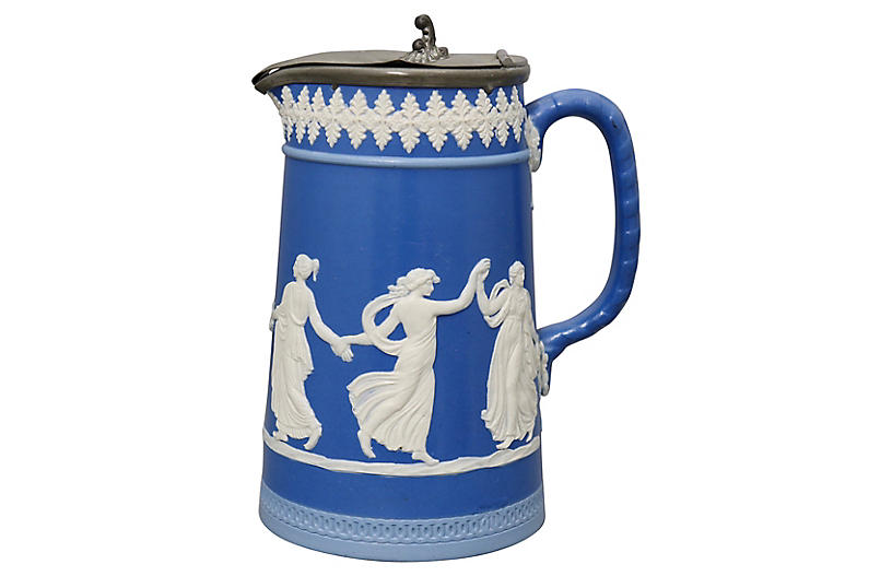 Antique Dudson Dancing Hours Pitcher