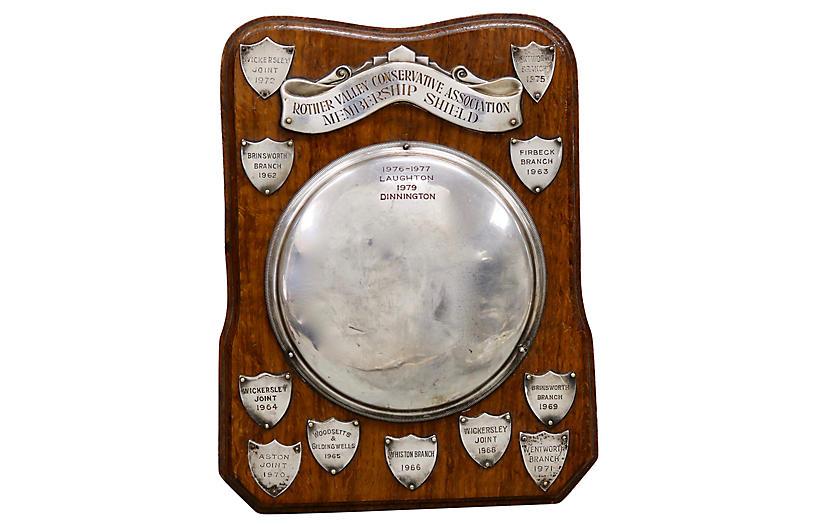 English Silver-Plate Parliament Plaque
