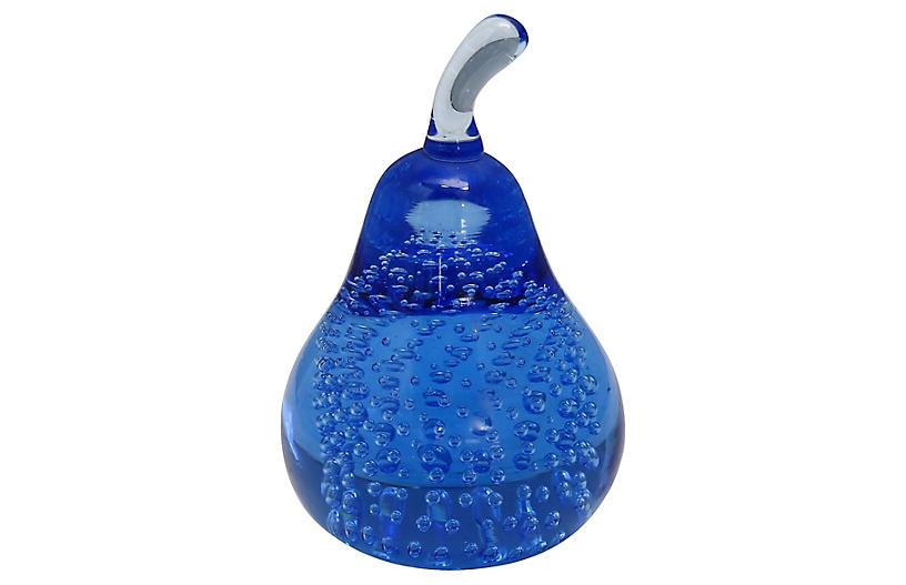 Midcentury Murano Glass Pear Paperweight