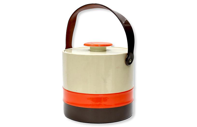 1960s Patent Leather Ice Bucket