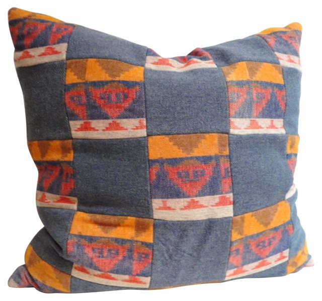 Patchwork Pendleton Blanket Pillow