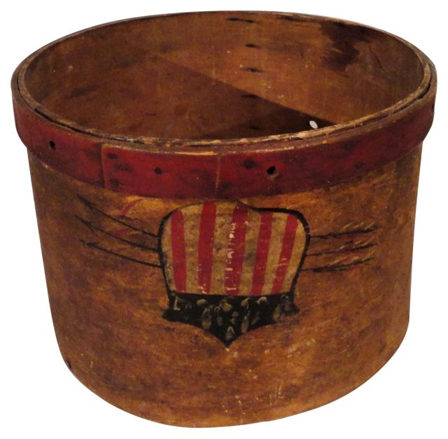 19th-C. Painted Patriotic Box