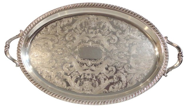 Silverplate Tray w/ Handles