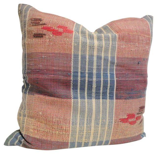 Handwoven Rag Rug    Pillow