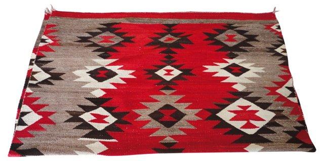 "19th-C. Navajo Rug, 6'5"" x 5'4"""