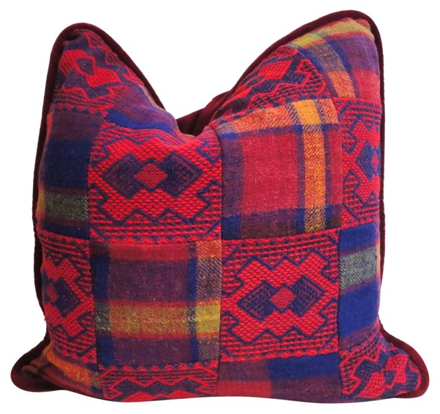 Patchwork Blanket  Pillow