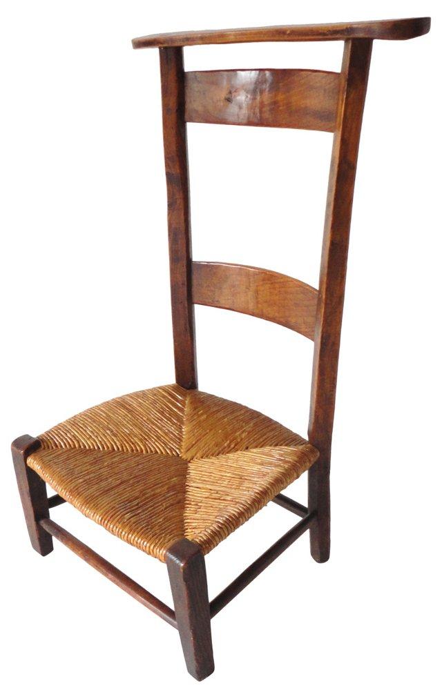 Early-19th-C. English Prayer Chair