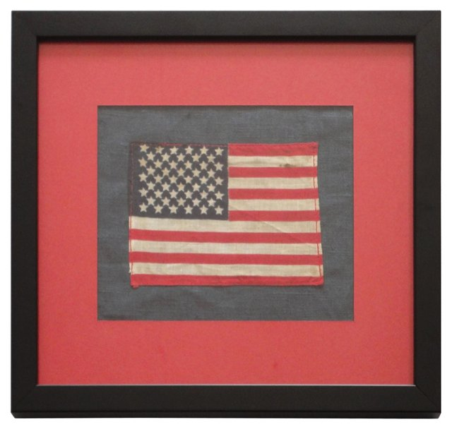 Framed   48-Star  Parade Flag