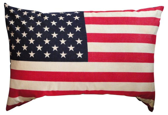 50-Star Large Flag  Pillow