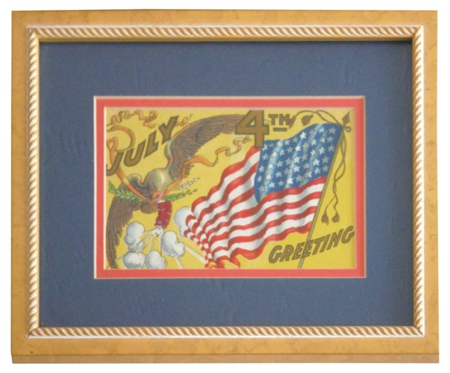 Framed 4th of July   Postcard