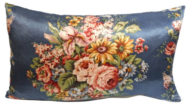 Polished Cotton Floral Pillow