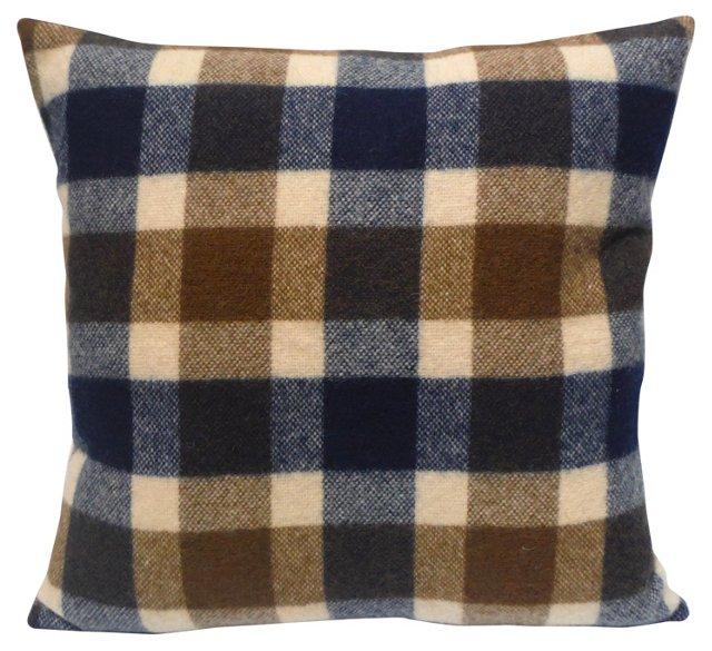 Plaid Wool Pillow
