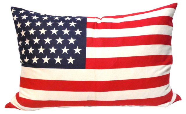 Large 48-Star Flag       Pillow