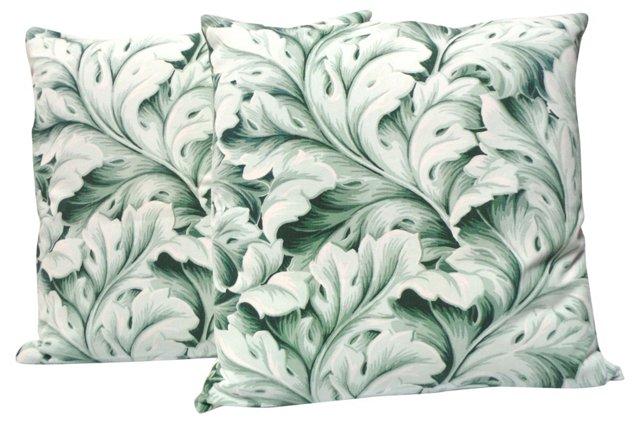 Tropical Print    Pillows, Pair