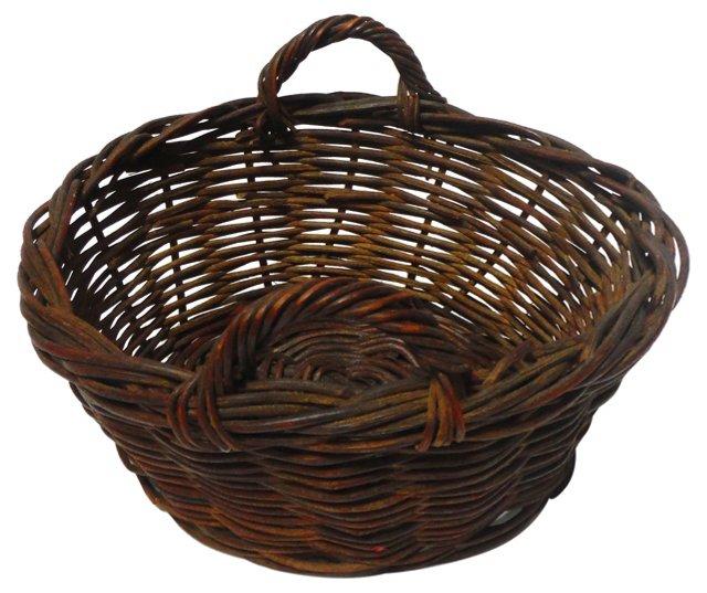 19th-C. Egg Basket w/ Handles