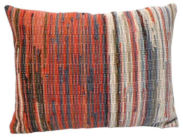 Pillow w/ 19th-C.   Rag   Rug