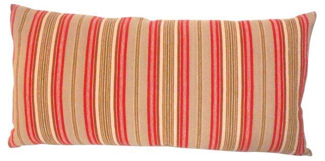 Pillow w/ 19th-C. American    Ticking