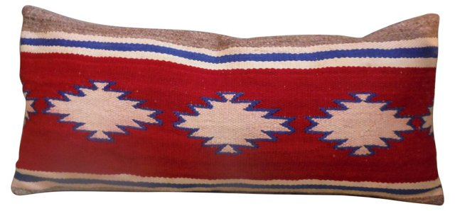 Navajo Weaving Bolster     Pillow