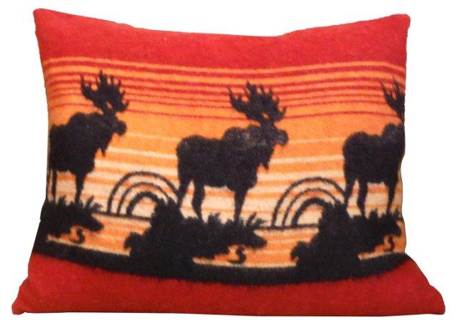 Moose Wool Camp Blanket Pillow